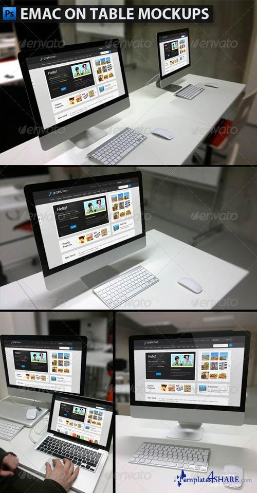 GraphicRiver Emac on Table Mockups