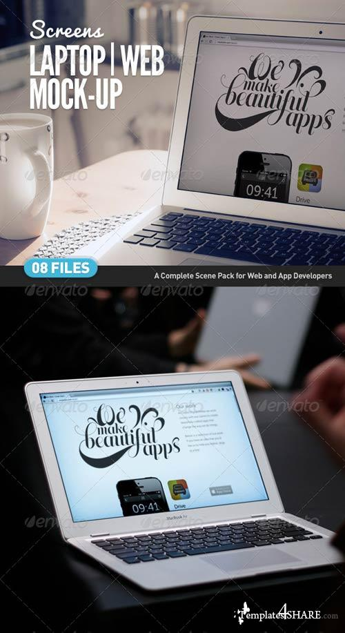 GraphicRiver Laptop | Web App Mock-Up