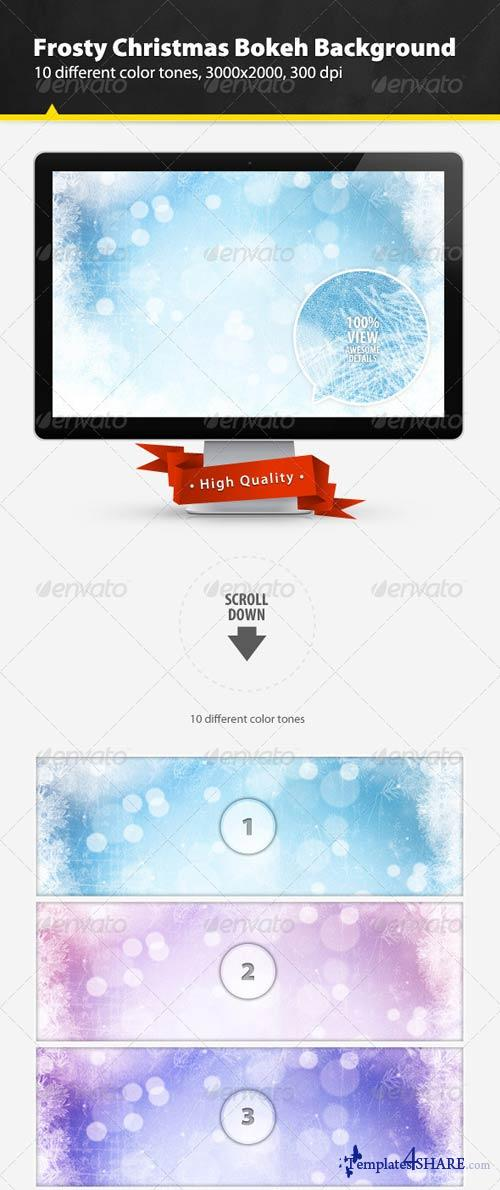 GraphicRiver Frosty Christmas Bokeh Background