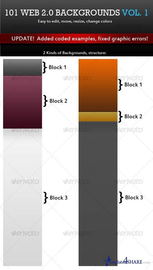 GraphicRiver 101 Web 2.0 Backgrounds. Mega Pack