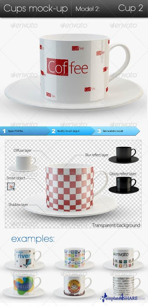 GraphicRiver Cups Mock-up Model2: Cup2