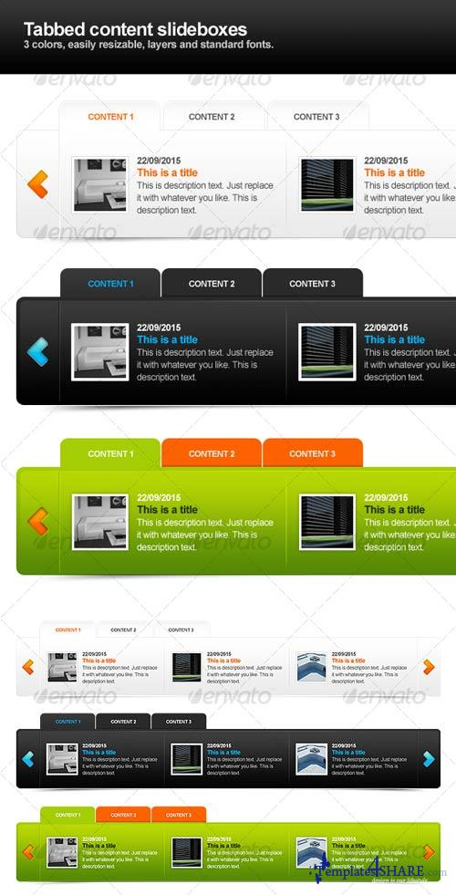 GraphicRiver Tabbed content sliders