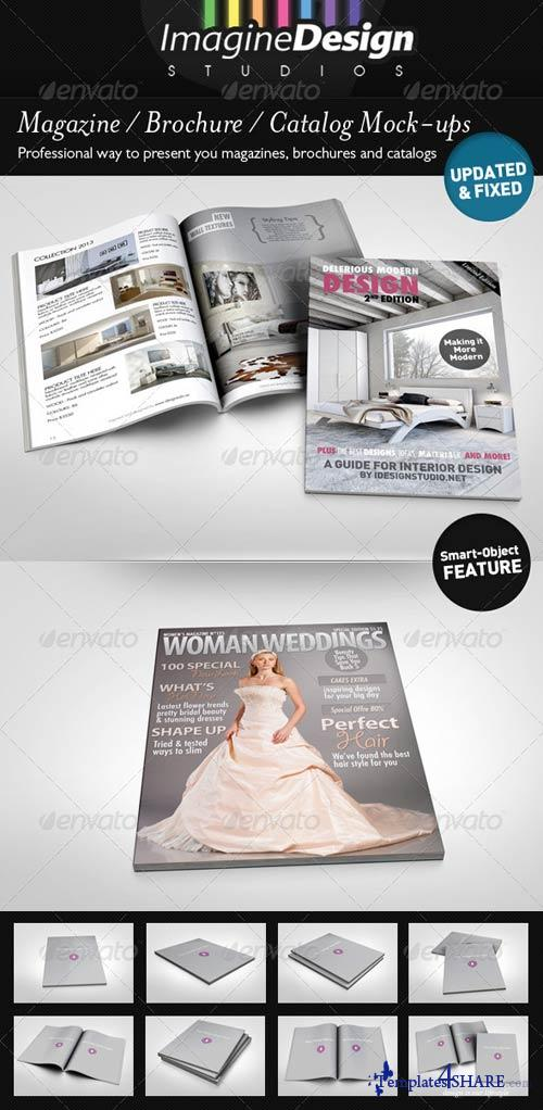 GraphicRiver Photorealistic Brochure / Magazine Mock-up