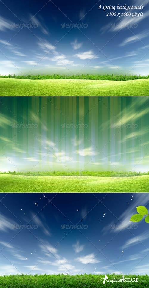 GraphicRiver Spring Backgrounds