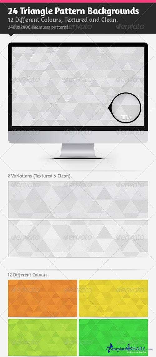 GraphicRiver 24 Triangle Pattern Backgrounds