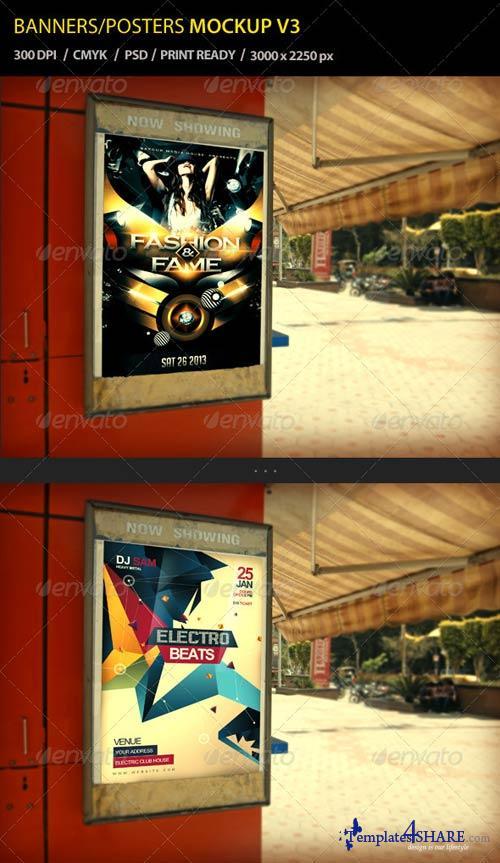 GraphicRiver Banner / Poster Mockup V3