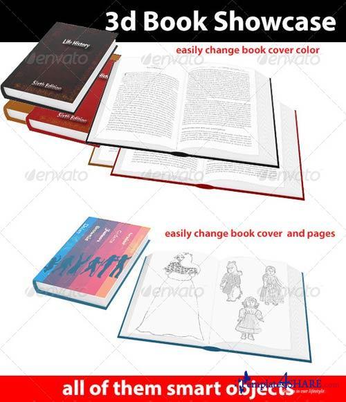 GraphicRiver 3d Book Showcase
