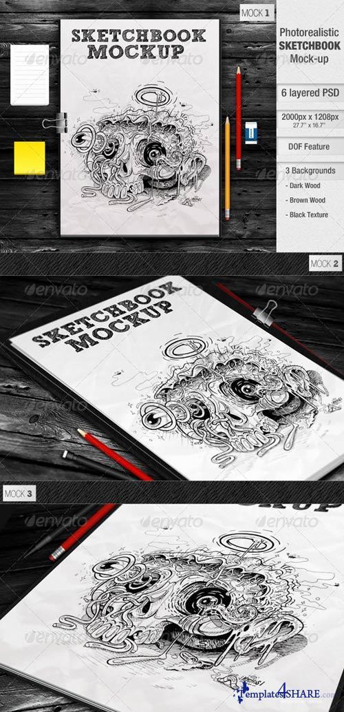 GraphicRiver Sketchbook Mockup