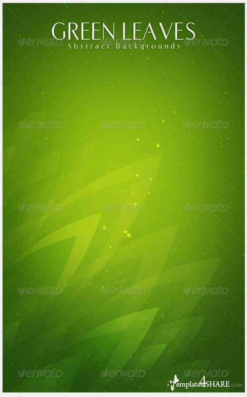 GraphicRiver Green Leaves Abstract Backgrounds | v2
