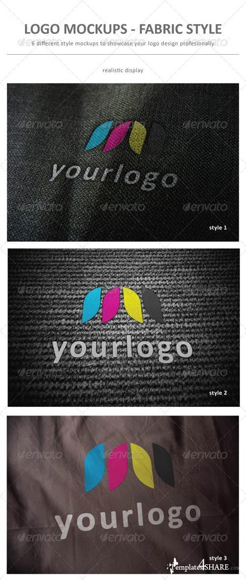 GraphicRiver Logo Mockup Fabric Style