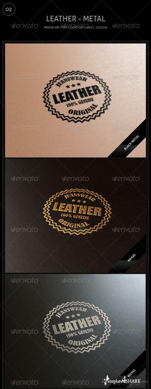 GraphicRiver Logo/Label Mockup - Leather/Metal