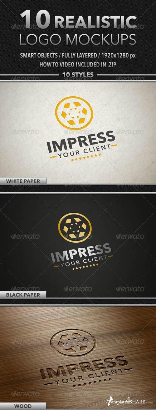 GraphicRiver 10 Realistic Logo Mockups