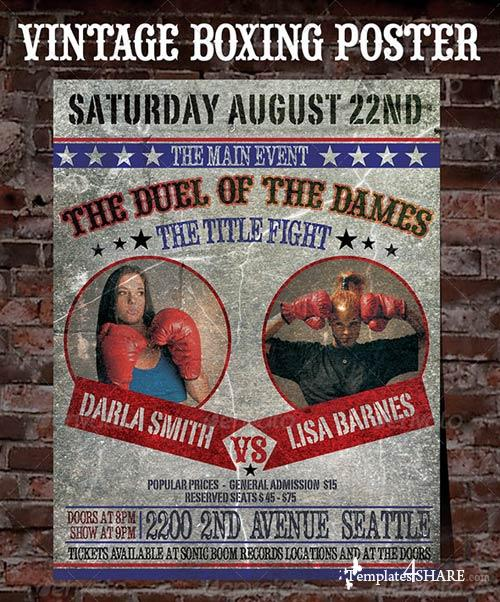GraphicRiver Old Boxing Poster