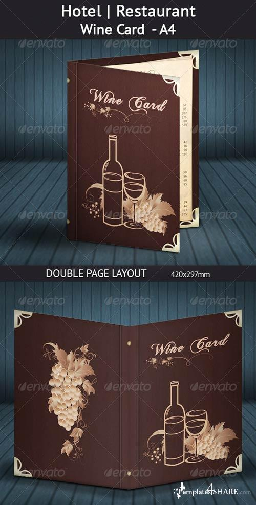GraphicRiver Hotel | Restaurant Wine Card - A4