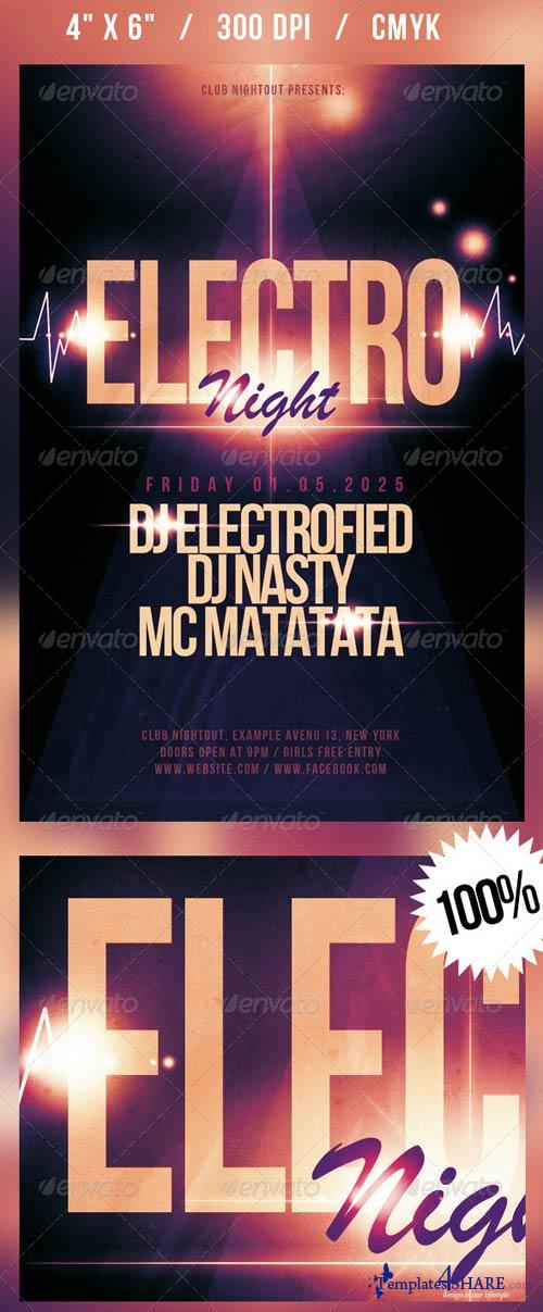 GraphicRiver Electro Night Flyer