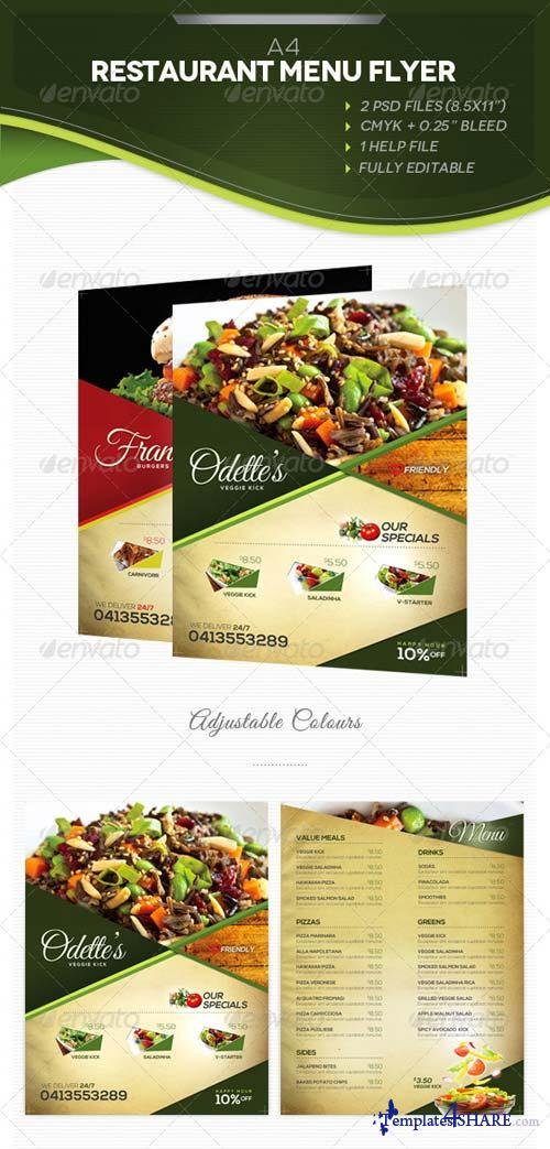GraphicRiver A4 Restaurant Menu