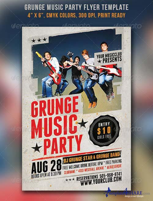 GraphicRiver Grunge Music Party Flyer