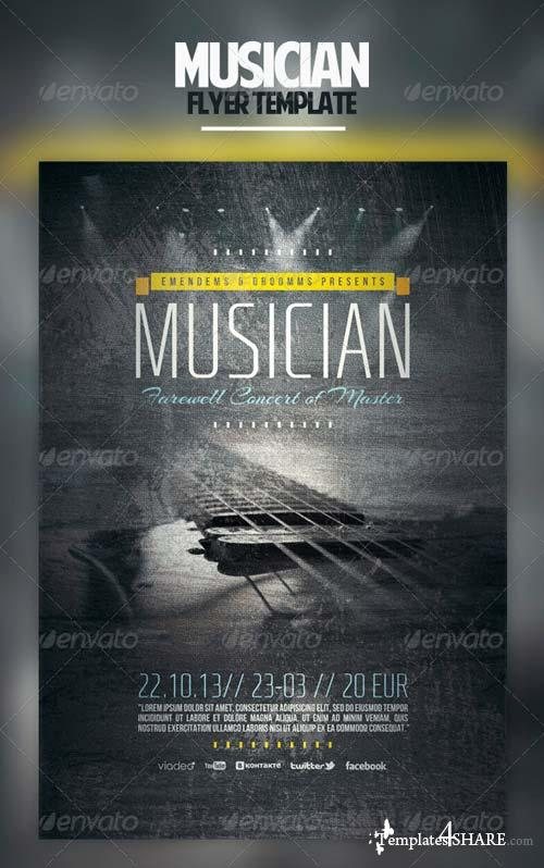 GraphicRiver Musician Flyer Template