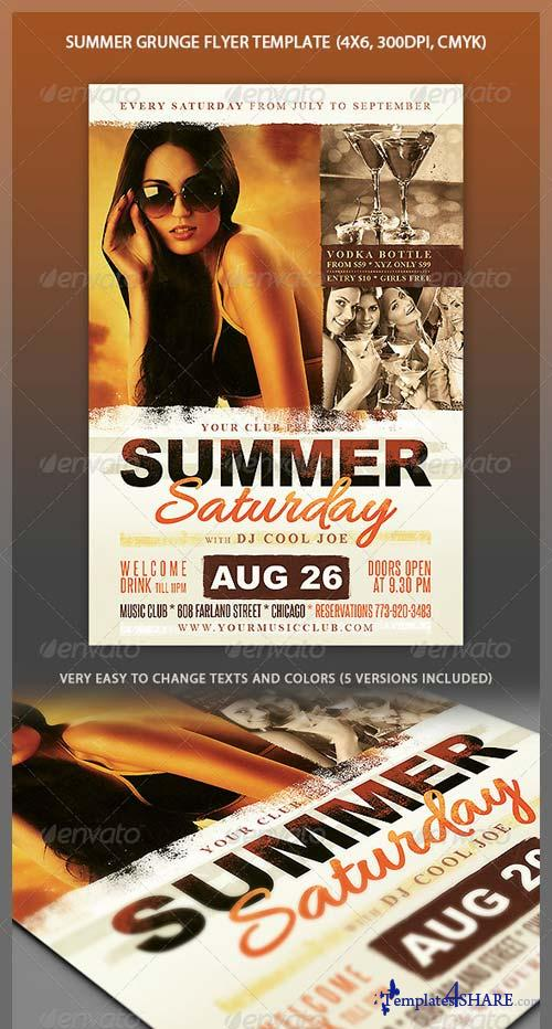 GraphicRiver Summer Grunge Party Flyer