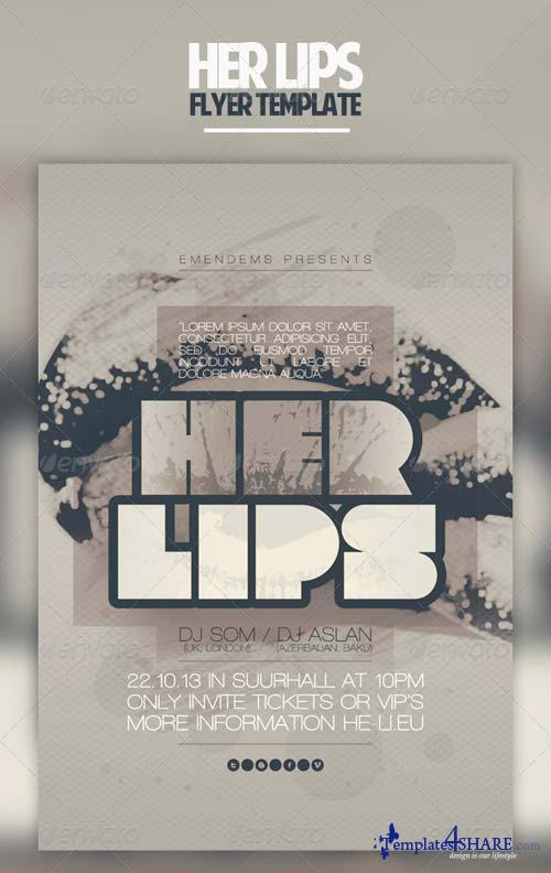 GraphicRiver Her Lips Flyer Template