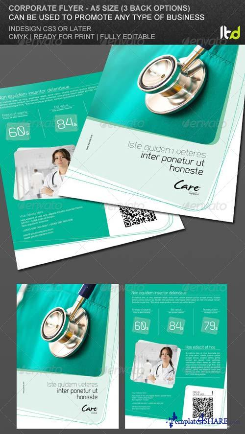 GraphicRiver Promotional Flyer with 3 Back Options