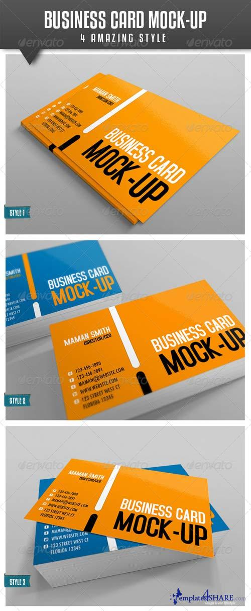 GraphicRiver Business Card Mock-Up Vol.2