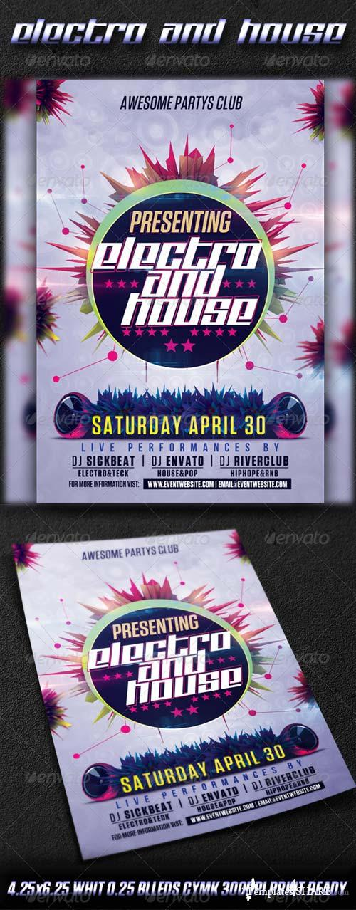 GraphicRiver Electro And House Party Vol3
