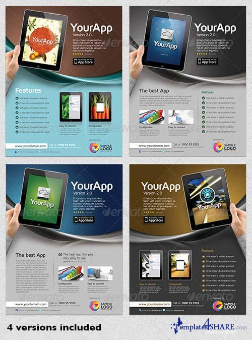 GraphicRiver Multipurpose Mobile App Flyer Template