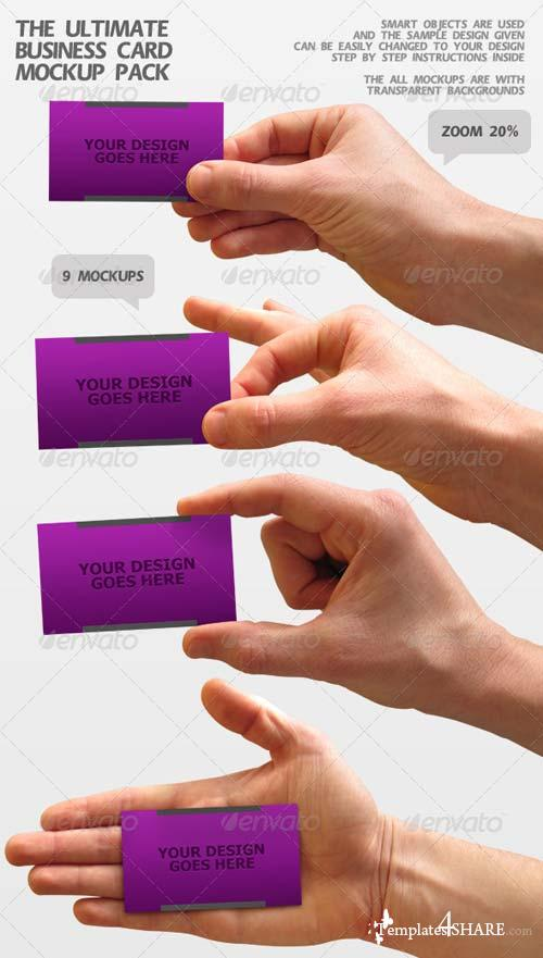 GraphicRiver The Ultimate Business Card Mockup Pack