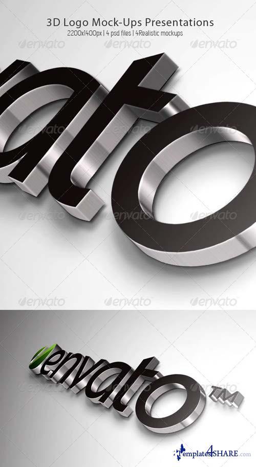 GraphicRiver 3D Logo Mock-Ups Presentations