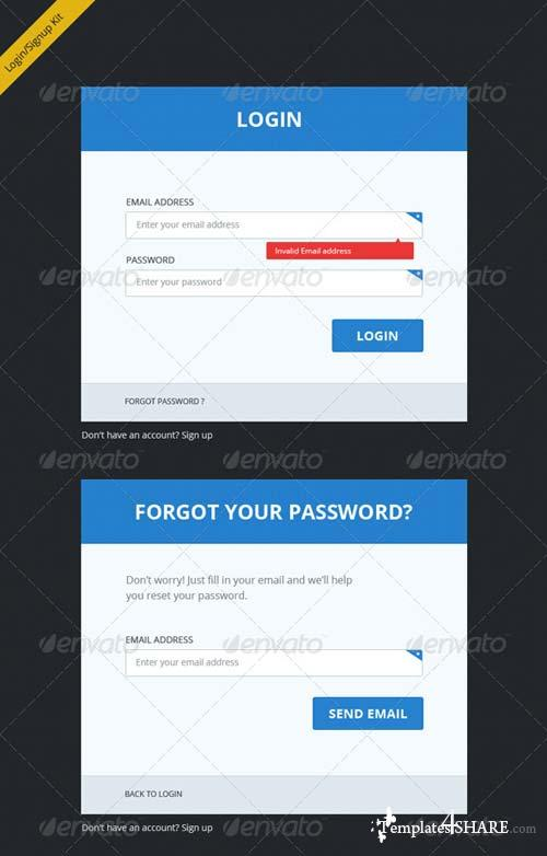 GraphicRiver Clean, Clear and Bold Login Signup Forms