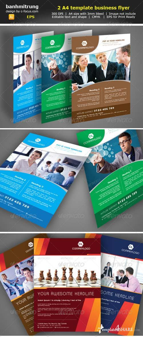 GraphicRiver Clean A4 template business flyer