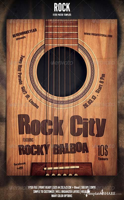GraphicRiver Rock Flyer / Poster 4