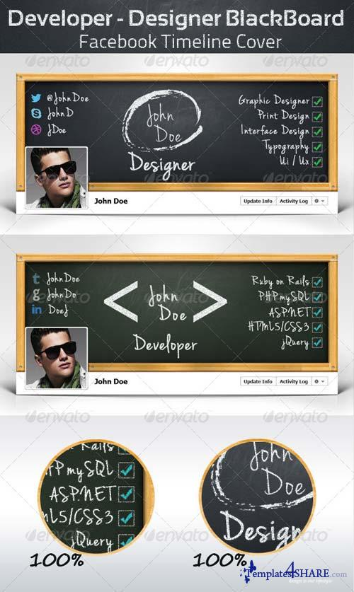GraphicRiver Developer - Designer BlackBoard - FB Cover