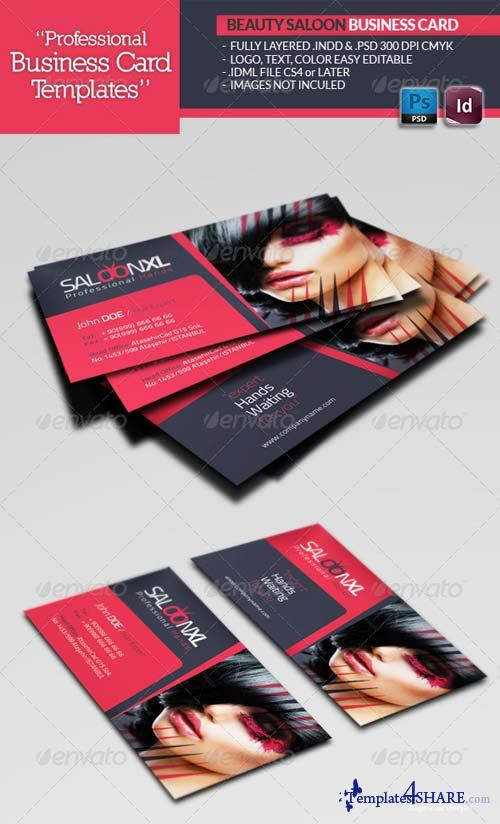 GraphicRiver Beauty Salon Business Card Template