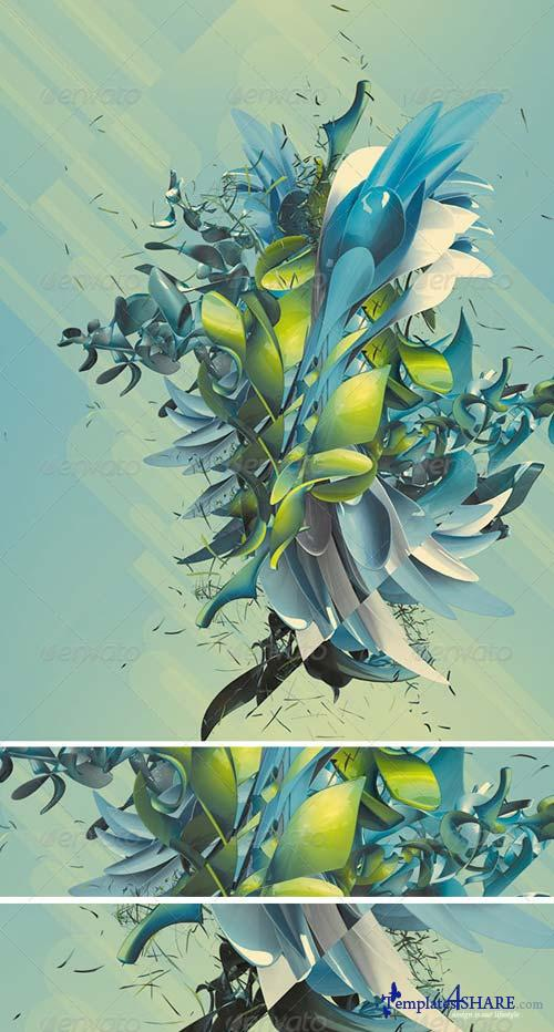 GraphicRiver Abstract 3D Plant