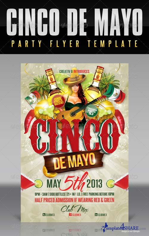 GraphicRiver Cinco De Mayo Party Flyer Template 4514296