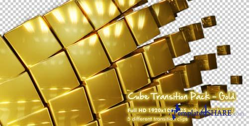 Cube Transition Pack - Gold - After Effects Motion Graphics (Videohive)