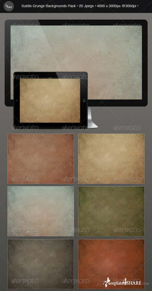 GraphicRiver Subtle Grunge Background Pack