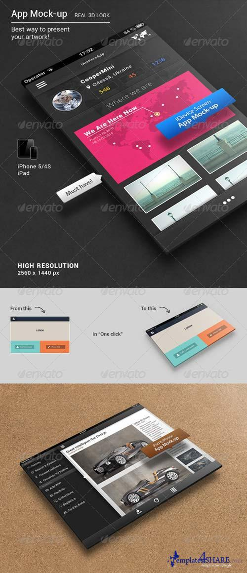 GraphicRiver App Mock-up