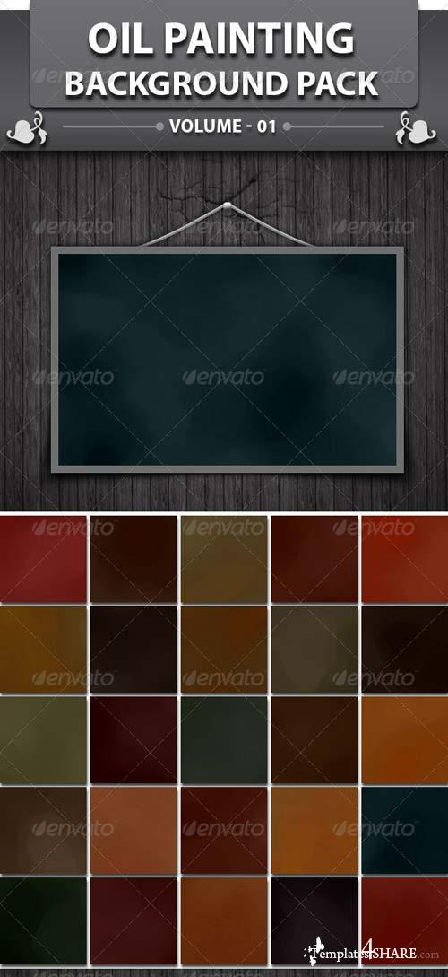 GraphicRiver 25 Oil Painting Background Pack
