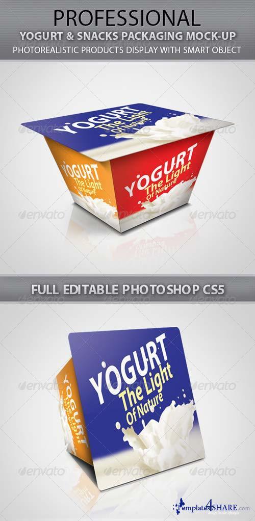 GraphicRiver Yogurt & Snacks Packaging Mock-up