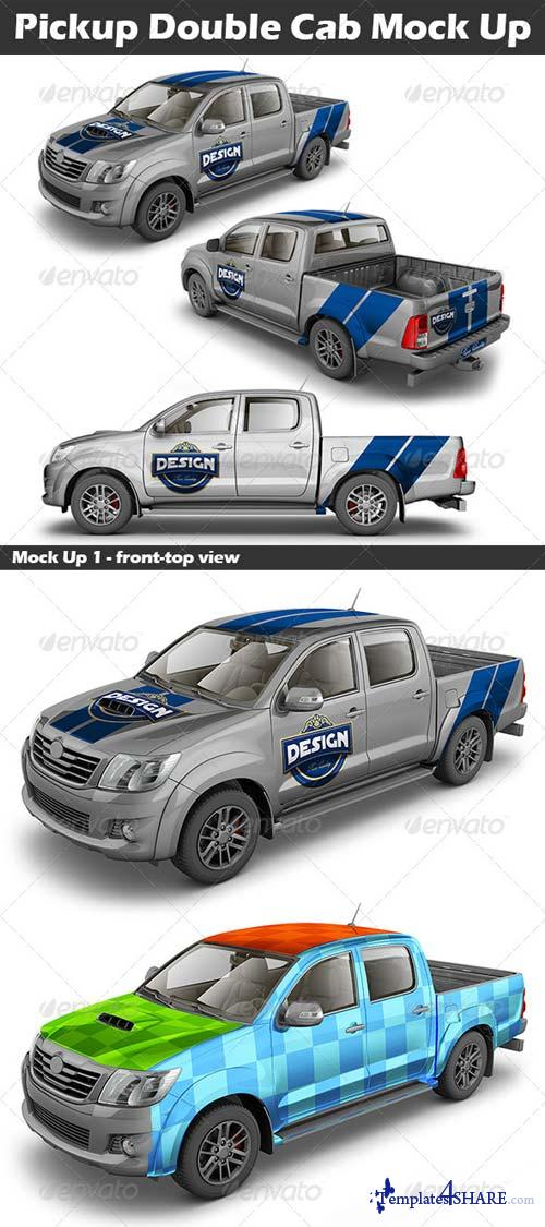 GraphicRiver Pickup Double Cab Mock Up