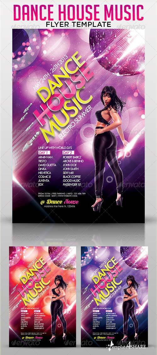 GraphicRiver Dance House Party Flyer