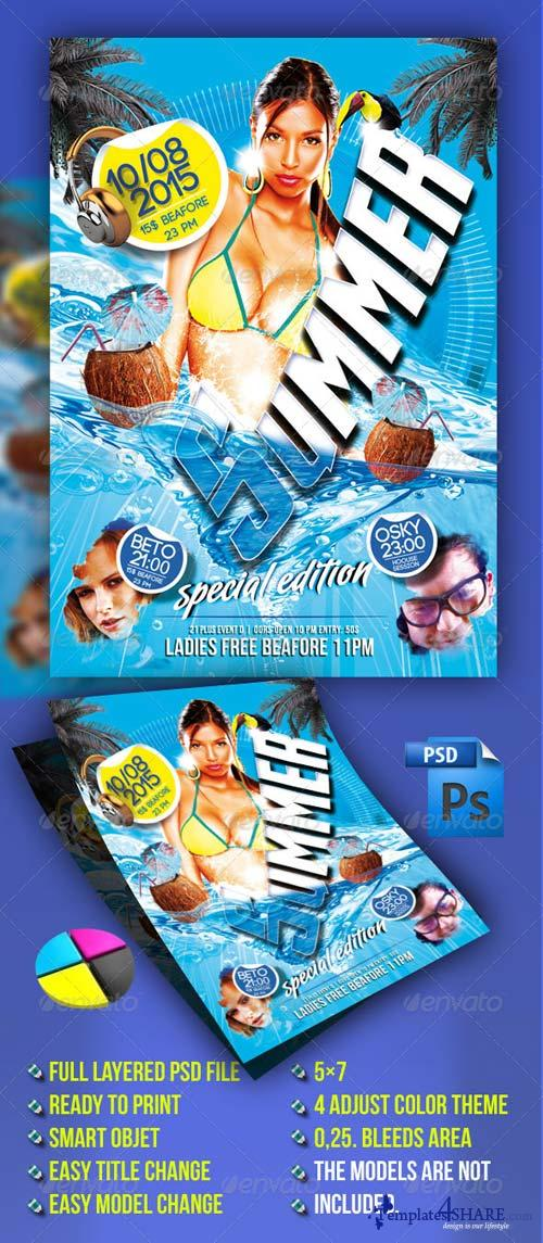 GraphicRiver Summer Flyer Template