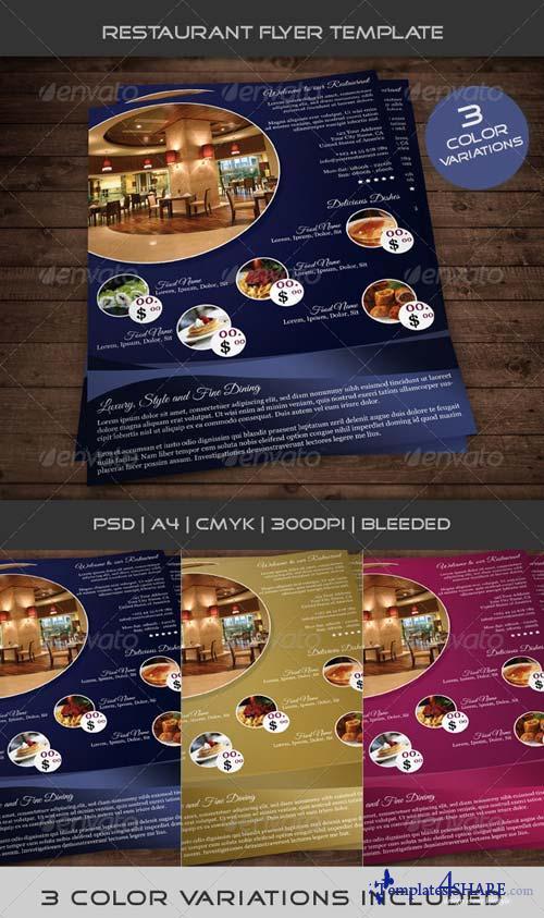 GraphicRiver Restaurant Flyer Template 01