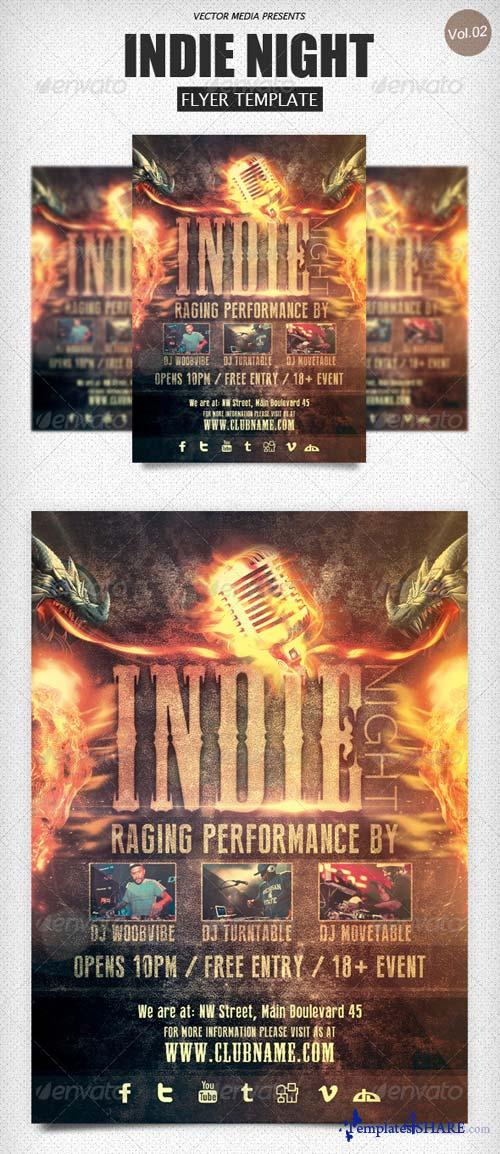 GraphicRiver Indie Night - Flyer [Vol.2]