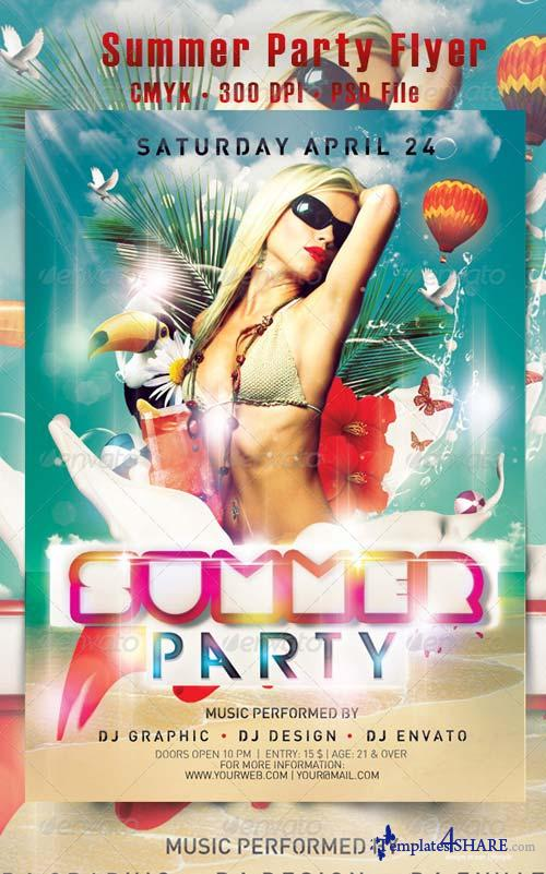 GraphicRiver Summer Party Flyer 4571138