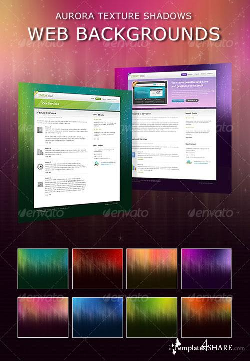 GraphicRiver Aurora Shadows Web Backgrounds