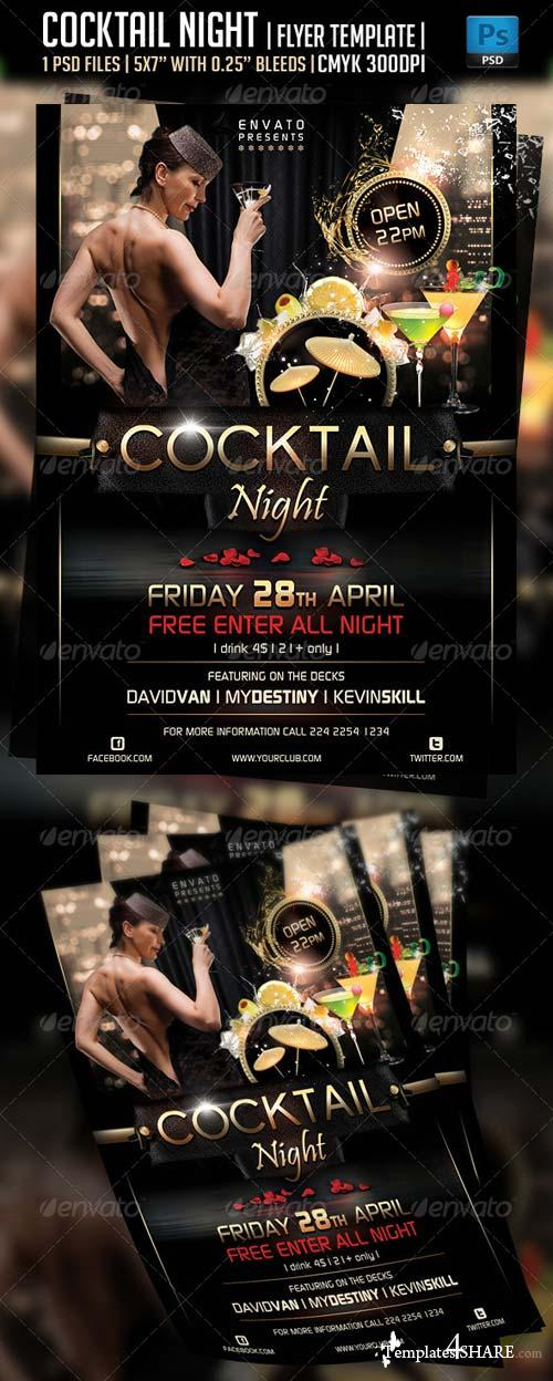 GraphicRiver Cocktail Night Flyer Template